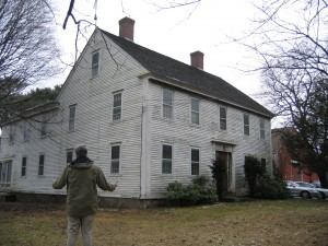 A photograph of a house on 412 Highland Street, demolished in 2011