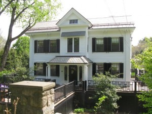 The fine Italianate house at 338 Boston Post Road was built in the mid-19th century