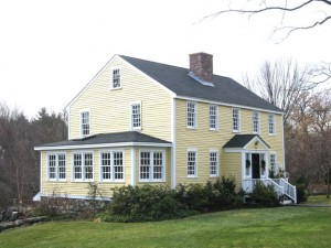 The c. 1732 Nathaniel Jennison House is the oldest in the Glen Road District