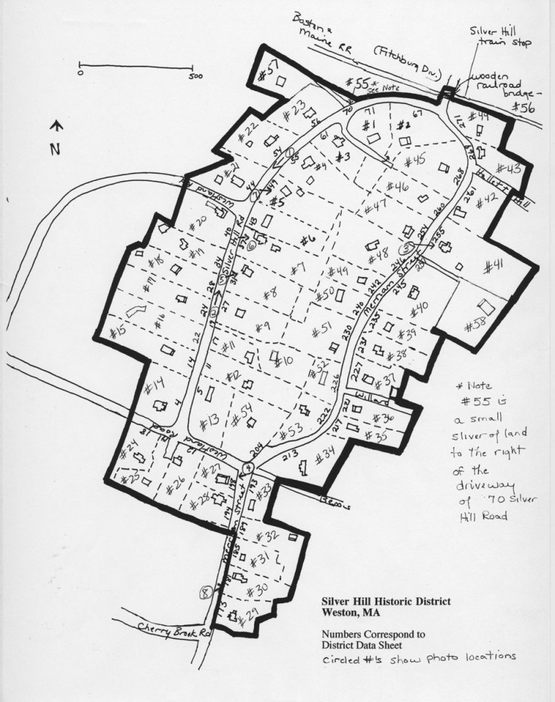Silver Hill Historic District Map With Notes and Locations