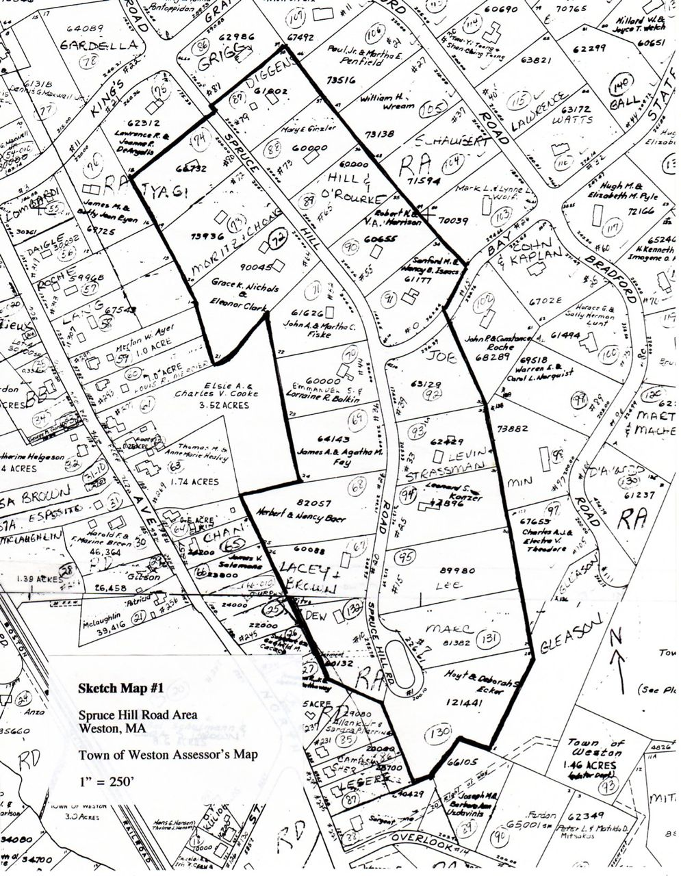 Spruce Hill Road Area sketch map