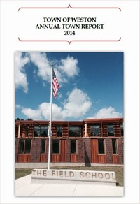 The Field School on the cover of the 2014 annual town report